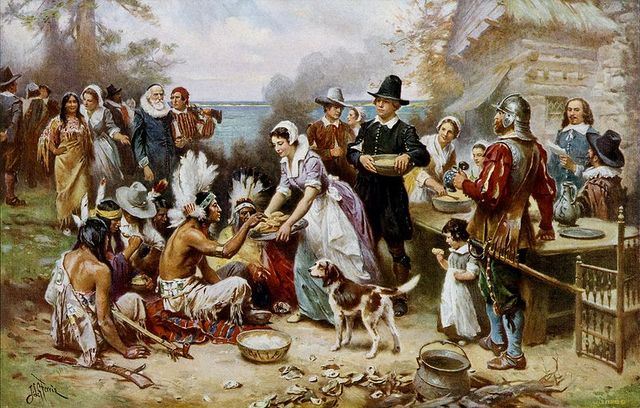 The_First_Thanksgiving color