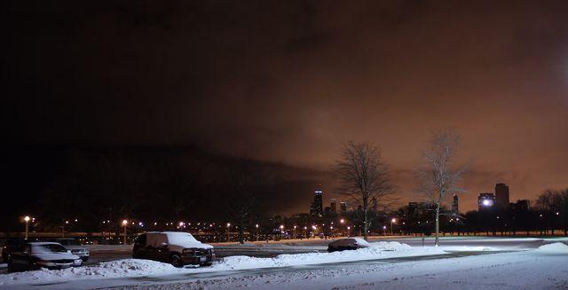 Night snowy skyline dec 25-1-2