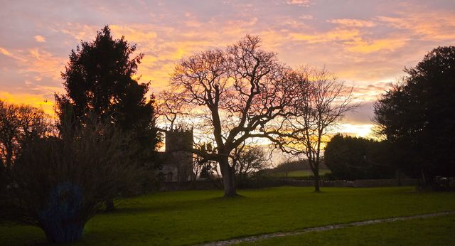 Westbury church evening