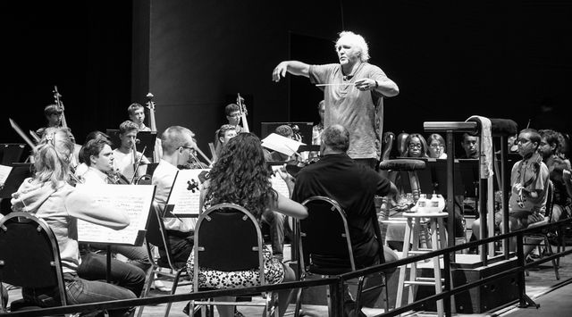 Castleton Mozart concert rehearsal